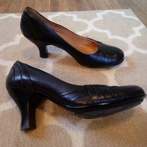 Black leather pumps söfft